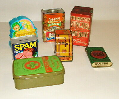 %  1930-60'S Tin Boxes And Coin Bank Collection Lot K-38