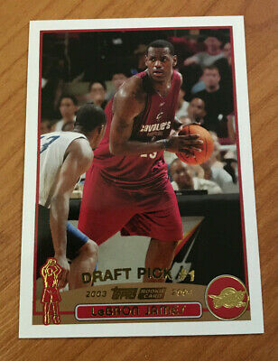 LAKERS CAVS: 2003-04 Topps Basketball #221 LeBron James Rookie SP! PSA 10?