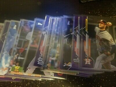 2020 Topps Baseball Series 1 Meijer's Purple Parallel Exclusive