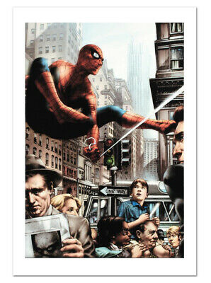 Spider-Man Eye Of The Camera Canvas Giclee Art by Jay Anacleto Marvels New