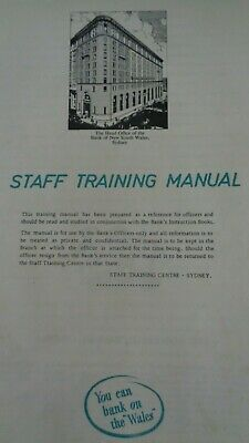 Bank of New South Wales Staff Training Manual - April/May 1966