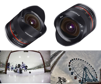Samyang 8 mm F2.8 II Fisheye Manual Focus Lens for Fuji X - Black