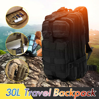 30L Outdoor Military Tactical Army Backpack Rucksack Camping Hiking Trekking Bag
