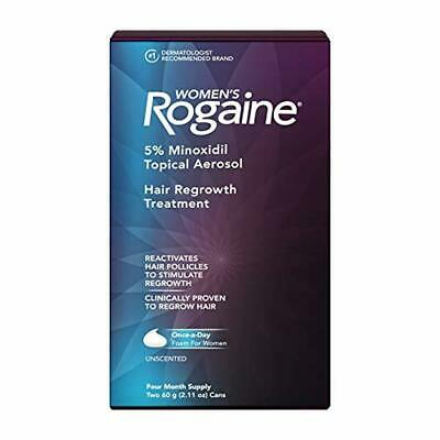 Women's Rogaine 5% Minoxidil Foam for Hair Thinning and Loss 4-Month Supply