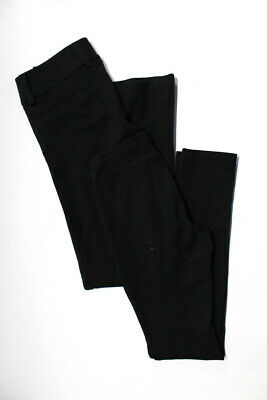 Alice + Olivia Womens High Rise Casual Leggings Pants Black Size 0 2 Lot 2