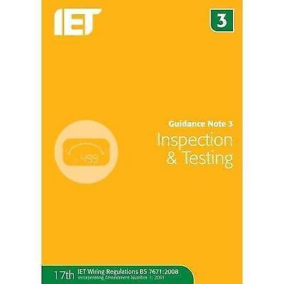 (Very Good)-Guidance Note 3: Inspection & Testing (Paperback)-The IET-1849192758