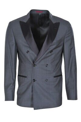 Brunello Cucinelli Blazer Men's 52 SALE !! Dark grey Regular Fit Plain Virgin Wo