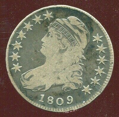 1809 CAPPED BUST HALF DOLLAR fine