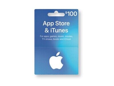 App Store & iTunes Gift Card $100 - Digital download, email delivery