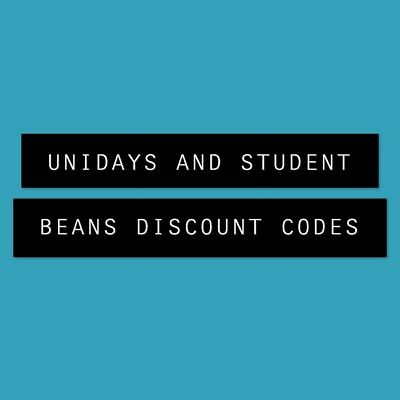2 Student Beans Or u.n.i.d.a.y.s. Discount Code - Instant Reply!
