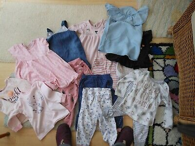 Baby Girl/Toddler Bundle Lot Of 13 Items Age 12-18 Mths Tops Trousers Dresses