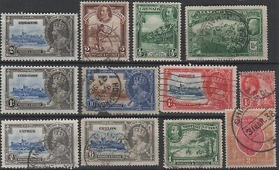 BRITISH EMPIRE - 12 x KGV Stamps COMMONWEALTH Mixed Selection JOB LOT 2