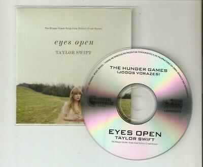 Taylor Swift 'Eyes Open' From The Hunger Games - Rare Mint Cd Promo