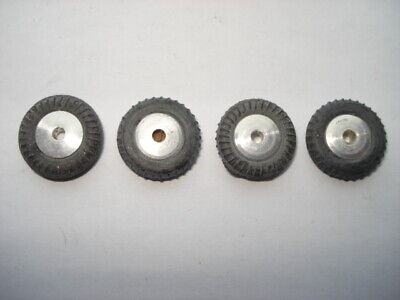 8 DINKY TOY new black rubber round TREAD TIRES ---15mm