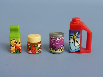 Playmobil Assorted food items  packet jar tin  +++ House supermarket Shop NEW