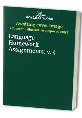 Language Homework Assignments: v. 4 Paperback Book The Fast Free Shipping