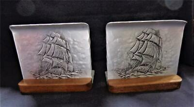Wendell August Forge Bookends Sailing Clipper Ship