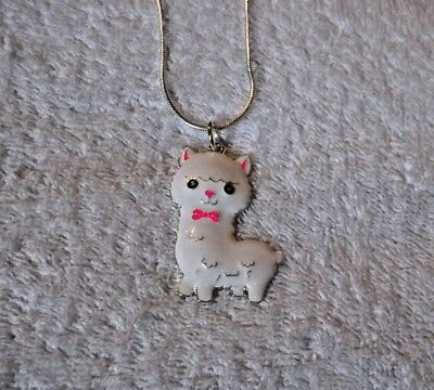 Cute LLAMA ALPACA Unwanted Large Charm Gift NECKLACE White