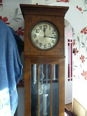 Oak Westminster  Grand Father Clock   1920/30  Poss Art Nouveau  For Tlc