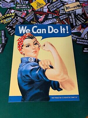 Women in the Workforce IronOn Patch Rosie The Riveter Patch We Can Do It WW2