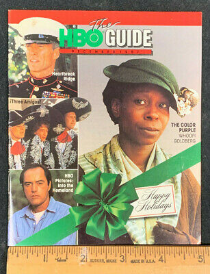 1987 December *The Color Purple* Hbo Home Box Office Movie Guide Booklet (As)