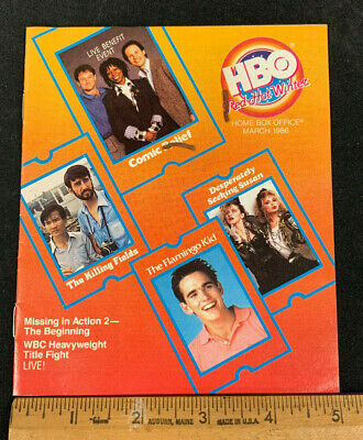 1986 March *The Killing Fields* Hbo Home Box Office Movie Guide Booklet (As)