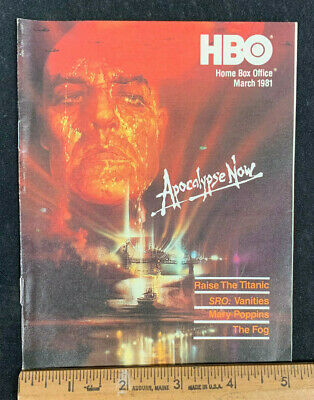 1981 March *Apocalypse Now* Hbo Home Box Office Movie Guide Booklet (As)