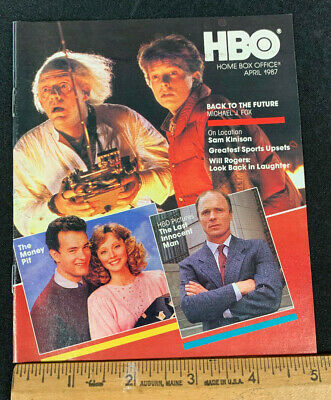 1987 April *Back To The Future* Hbo Home Box Office Movie Guide Booklet (As)