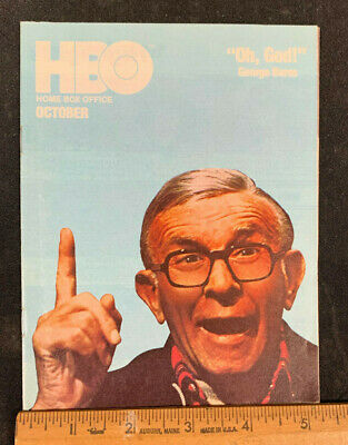 1978 October *Oh, God!/Burns* Hbo Home Box Office Movie Guide Booklet (As) M