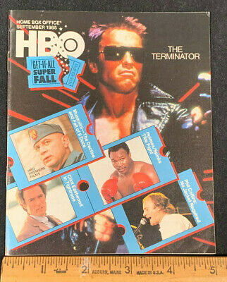 1985 September *The Terminator* Hbo Home Box Office Movie Guide Booklet (As)
