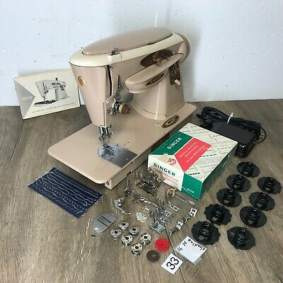 1962 Singer 503A Sewing Machine Heavy Duty Serviced Works Perfect Embroidery Cam