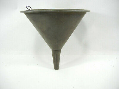 Vintage Small Rustic Galv.funnel Antique Metal Funnel G175