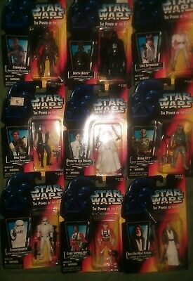 Star Wars POTF #9 Red Card Kenner Mixed Action Figure Lot PLUS FREE Lithograph