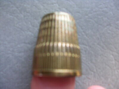 Vintage Thimble Ribbed Pattern Marked 10   17mm