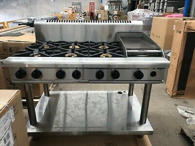 Waldorf RN8803G-LS 6 Burner Gas Cook Top + Griddle with Stand (Natural Gas)