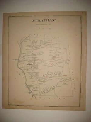 Antique 1892 Stratham Greenland Newton New Hampshire Map Detailed Fine Rare Nr