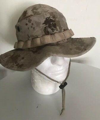 USMC US MARINES COVER BONNIE HAT DESERT DIGITAL MARPAT SMALL Excellent