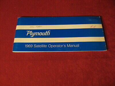 1969 Plymouth Satellite Road Runner? GTX? Owner's Operator's Manual User's Guide