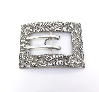 .Antique S. Kirk & Son Co.1896-1924 Sterling Silver Repoussé Style Buckle 48.9g