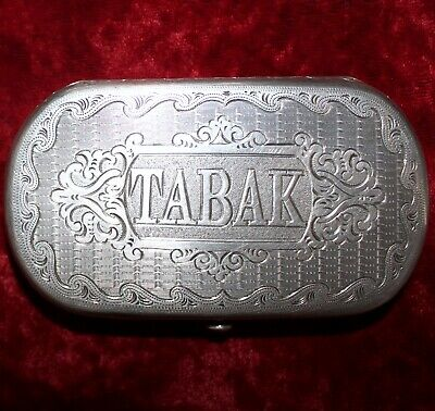 1800's Antique Hungarian Snuff TABAK Box Handsome Engraving No Monograms Lovely