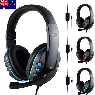 AU Game Gaming Headset USB 3.5mm Stereo Headphone Microphone For PC PS4 XBOX-ONE