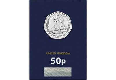 OFFICIAL 2020 MEGALOSAURUS DINOSAUR 50p BUNC Fifty Pence Coin ,CERTIFIED ISSUE 1