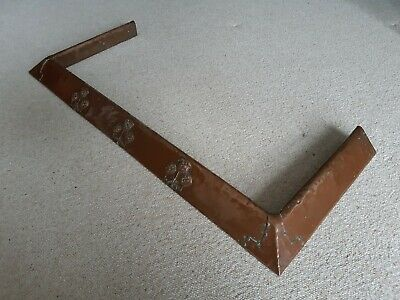 Arts And Crafts Rennie Mackintosh? Art Nouveau Copper Fireplace Fender Roses