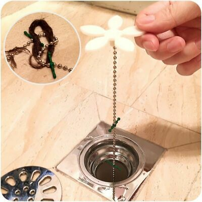 Kitchen Bathroom Drain Clog Sink Hair Remover Flower Sewer Cleaning Hook Tool