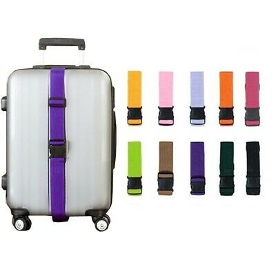 Adjustable Luggage Straps Nylon Lock Tie Down Buckle Belts For Baggage Travel