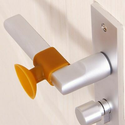 Silicone Door Handle Knob Wall Bumper Guard Crash Stopper Suction Pads Home Tool