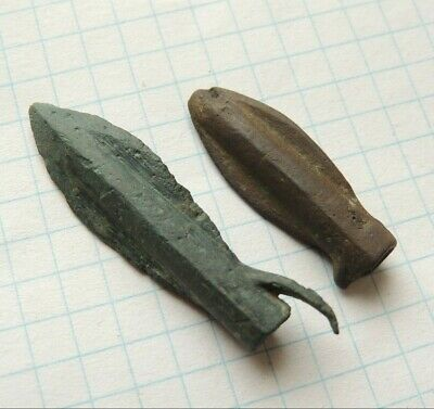 Ancient bronze arrows