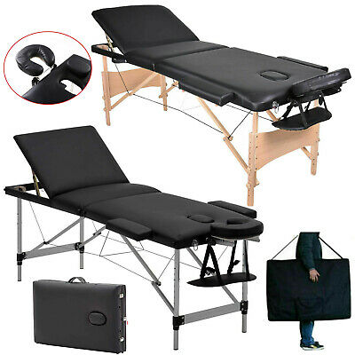Professional Portable Massage Table Couch Bed Spa Tatto Aluminium/Wooden Frame