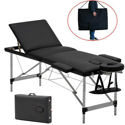 Massage Table Massage Bed Portable 2/3 Section Folding Couch Spa Bed Lightweight