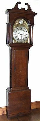 # Antique 8 Day Oak Longcase Grandfather Clock Atkinson of GATESHEAD Centre Date